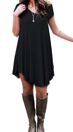 black short sleeve dress
