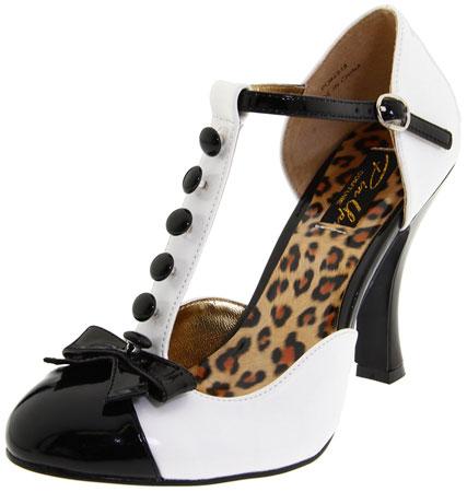 black white pumps shoes