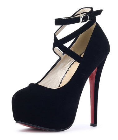 Womens black platform shoes with strap