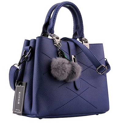 Blue Leather Tote Bags for womens
