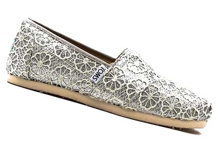 Slip-on silver shoes