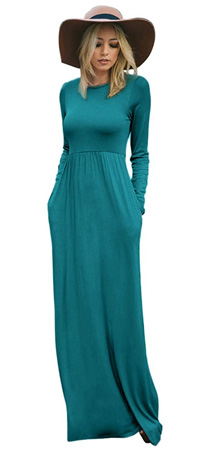long sleeve jersey maxi dress