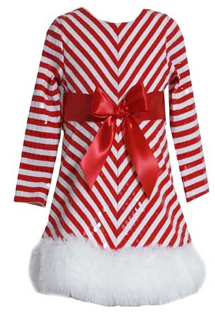 Bonnie Jean little girls Christmas Santa dress