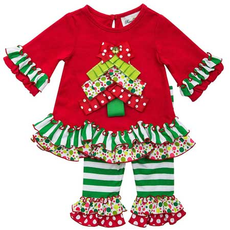 Rare Editions Girls Toddler Christmas Legging Set