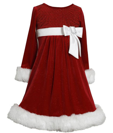 Bonnie Jean red velvet Santa dress