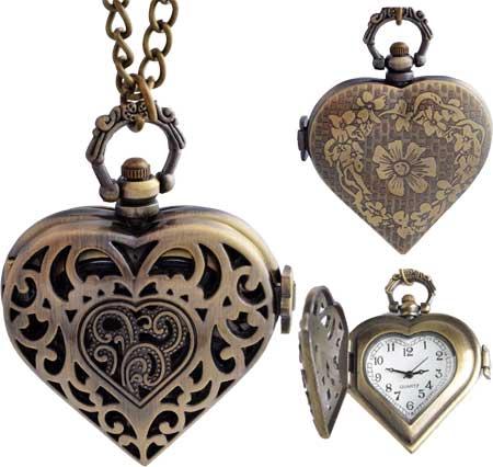 Steampunk pocket necklace watch