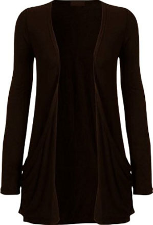 Fashion Womens Boyfriend Pocket Cardigan Shrug Sweater