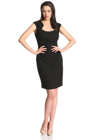 calvin klein sheath dress black