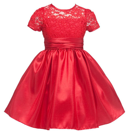 girls knee length lace dress