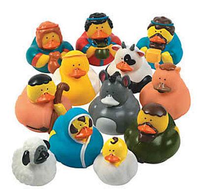 rubber duck nativity scene