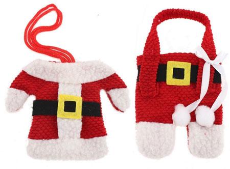 Santa suit Christmas silverware holders