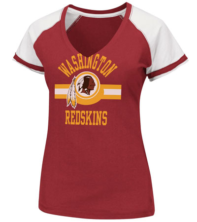 womens nfl v neck tee