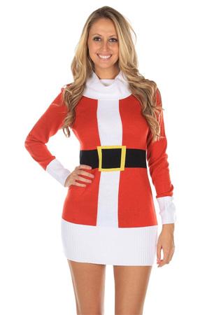Womens Ugly Christmas Sweater Dress.Womens Ugly Christmas Sweater Santa Claus Sweater Dress