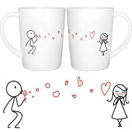 His and hers couple coffee mugs