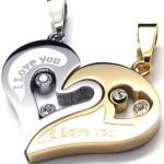 broken heart couple necklace