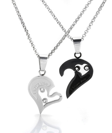 pendant two my couples about broken lover us best heart half person are bff necklace you itm
