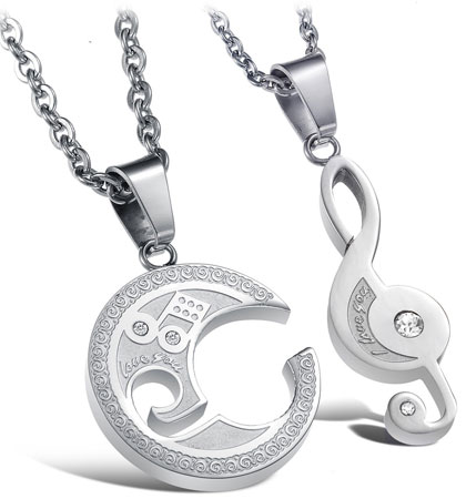 music note pendant necklace