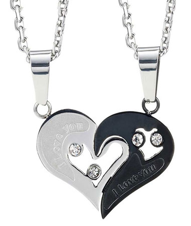 couples matching necklace set