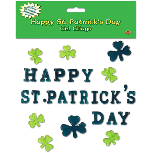 St. Patricks Day Gel Clings Sheet