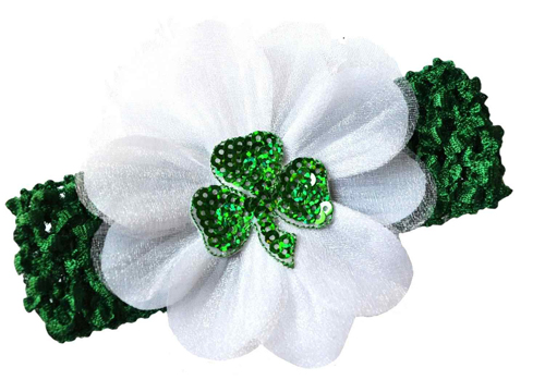 baby flower Shamrock headband