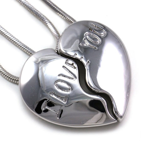 best friend heart necklace