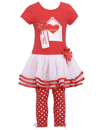 bonnie jean baby girl valentine tutu dress