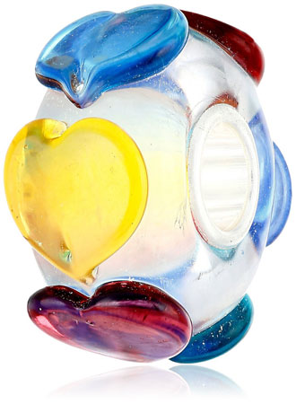 European glass charm beads