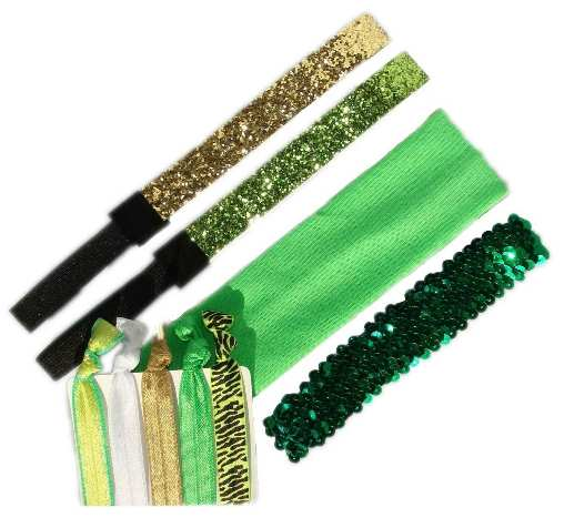 Green Elastic Stretch baby Headband Set