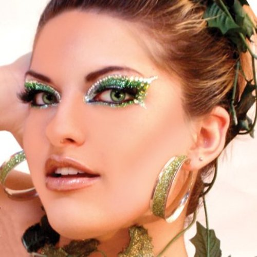 st patricks day glitter makeup