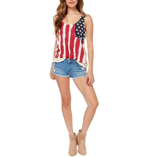 5311dc84fcadd8 4th of july t shirt · Meilaier Womens Casual Stars and Stripes Shirts Tank  Tops Sleeveless T Shirts