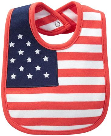 Carters American flag bib