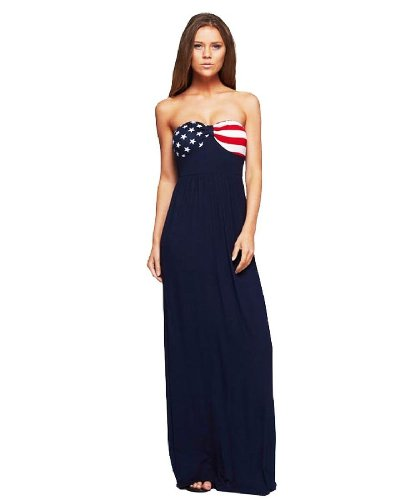 American flag strapless dress
