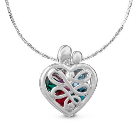 heart birthstone locket