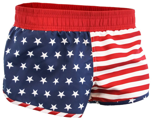 American Flag Printed Shorts