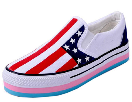 American flag canvas sneakers 06