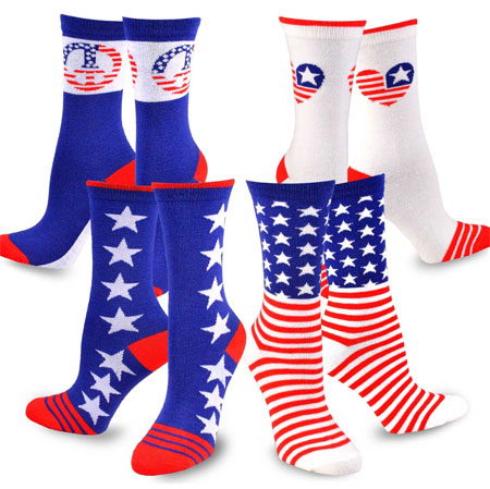 American flag women socks