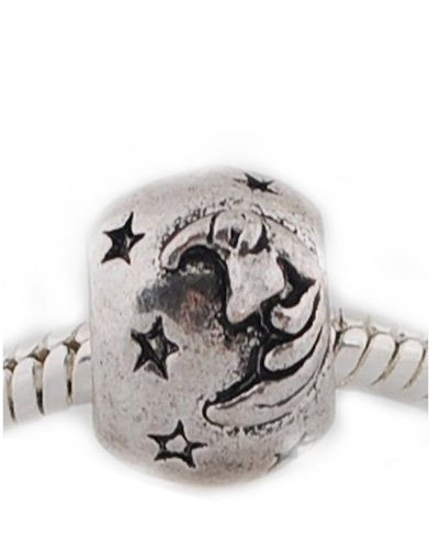 moon and stars charm bead
