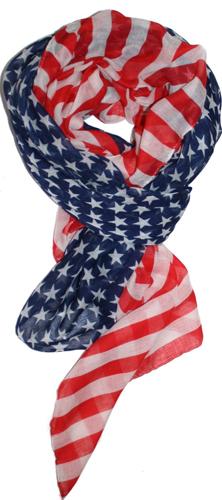 Patriotic American Flag Scarf