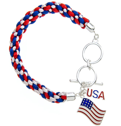 American Flag Toggle Bracelet