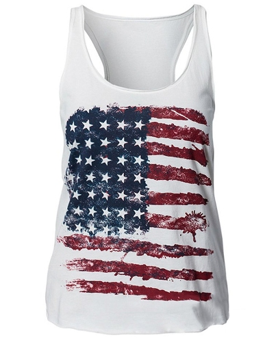 USA flag tank top