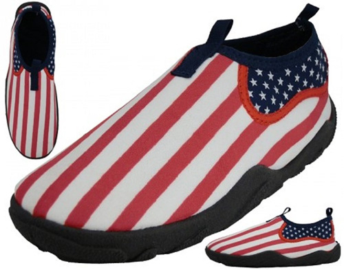 American Flag Water Shoes