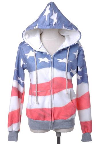 american flag hoodie Jacket
