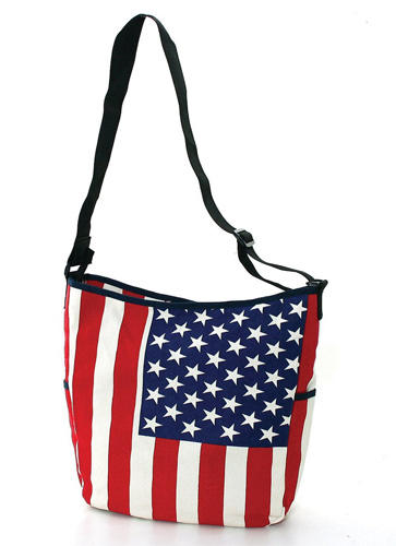 american flag canvas messenger bag