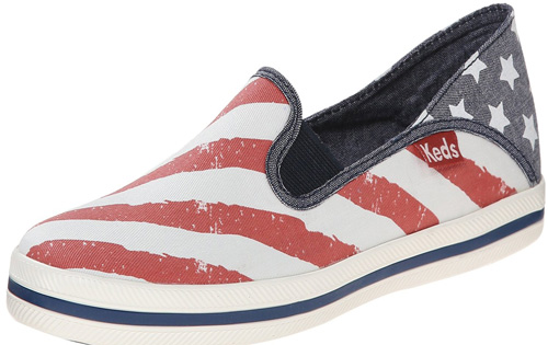 american flag slip on keds sneakers