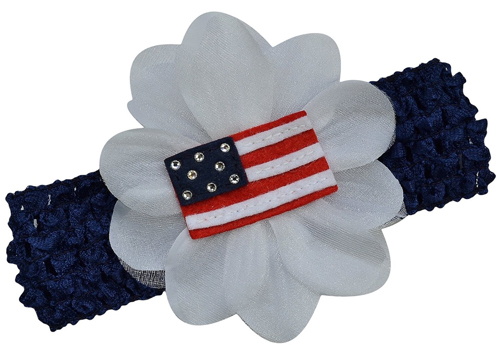 baby girls 4th of july headband