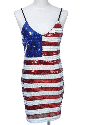 american flag bodycon dress
