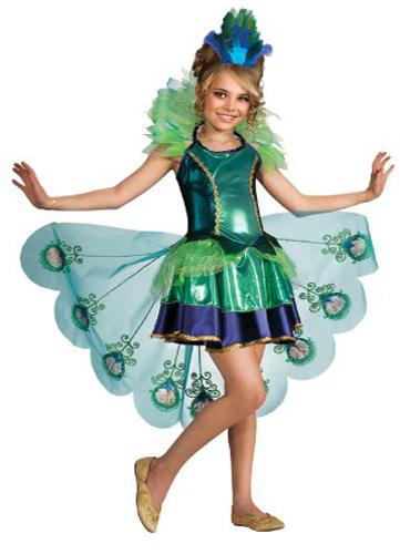 girls peacock halloween costume