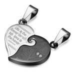 his and hers heart necklace