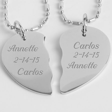 his and hers heart necklace - 04