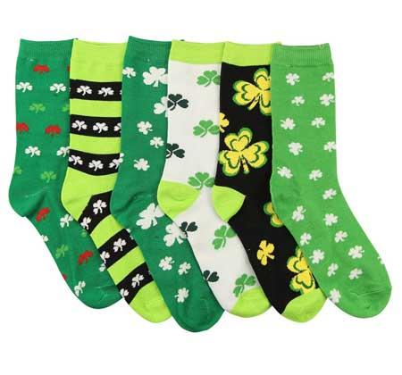 st patricks day socks crew style